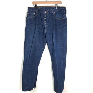 Vintage 501 made in USA high waisted jeans button